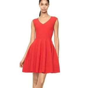 Milly S Textured Godet Fit N Flare Knit Dress
